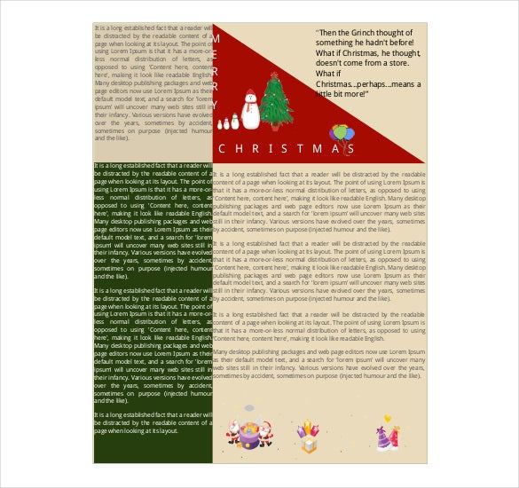 free christmas newsletter template pdf download