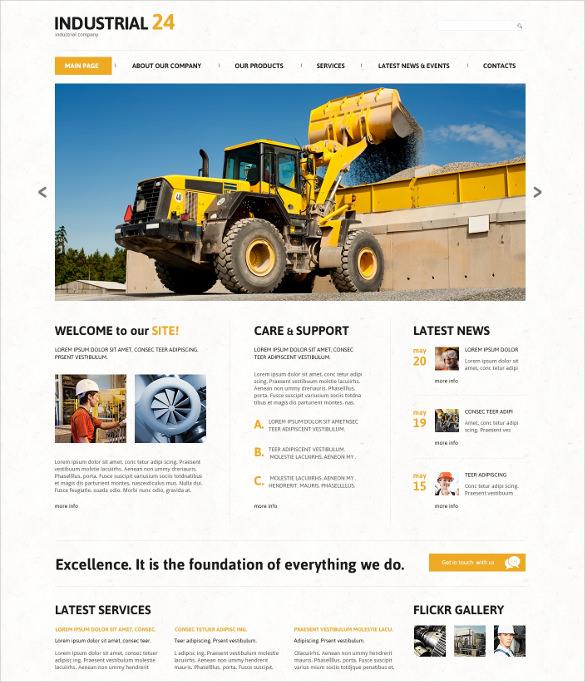 creative industrial joomla html5 template