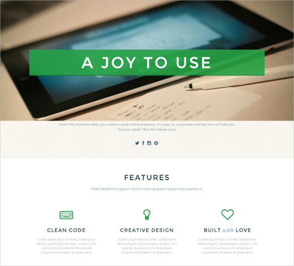 single page creative html5 theme