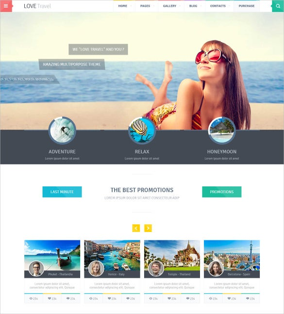creative travel agency html5 theme