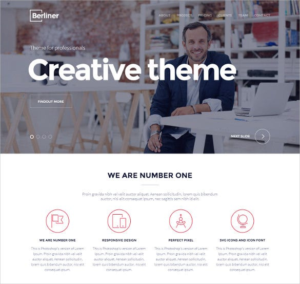 creative bootstrap html5 template