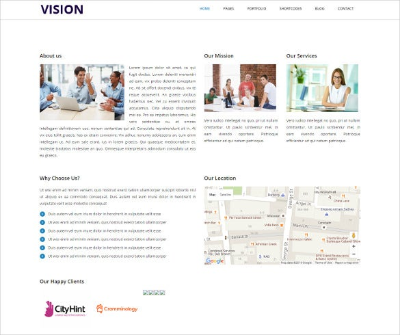 vision creative responsive html template