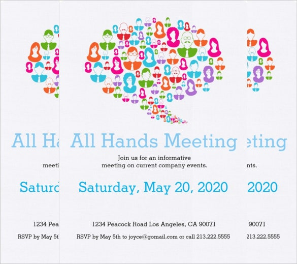 communication meeting invitation card