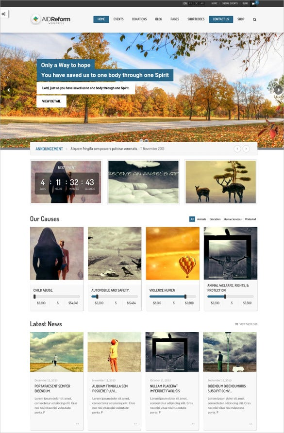 ngo donation charity wordpress theme