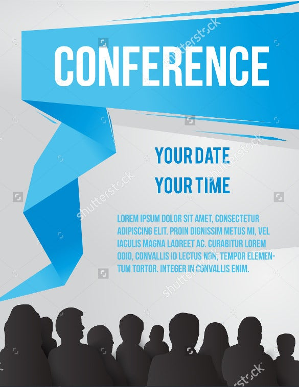 17 meeting invitation templates free sample example format conference template illustration with space for your text stopboris Image collections