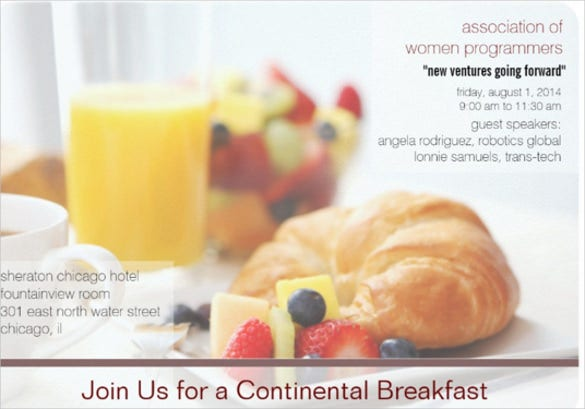 breakfast meeting invitation