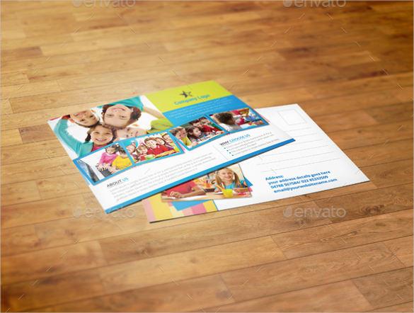 kids school postcard templates in psd