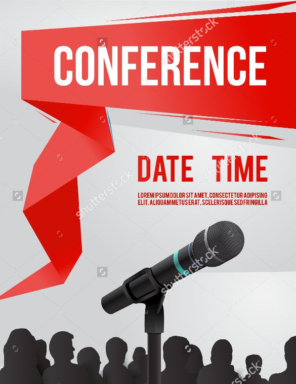 conference template illustration invitation