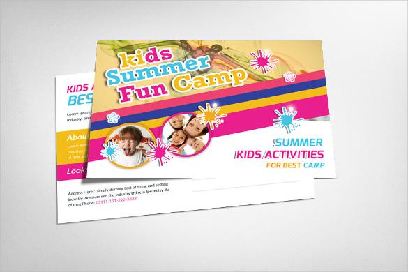summer camp postcard template for kids
