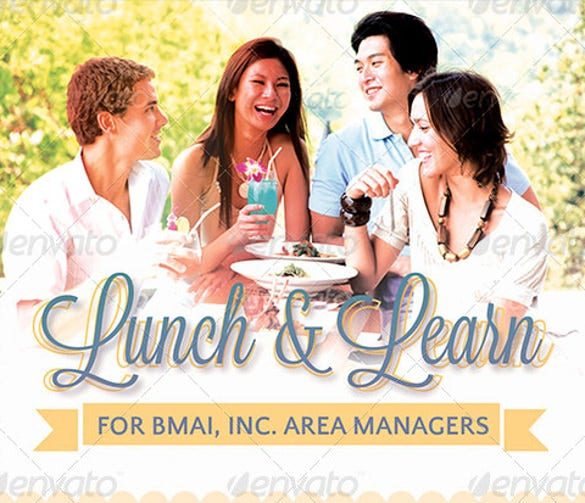 lunch and learn corporate meeting flyer