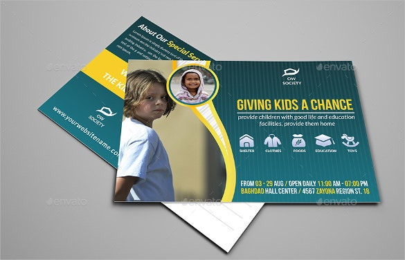 postcard template for kids charity