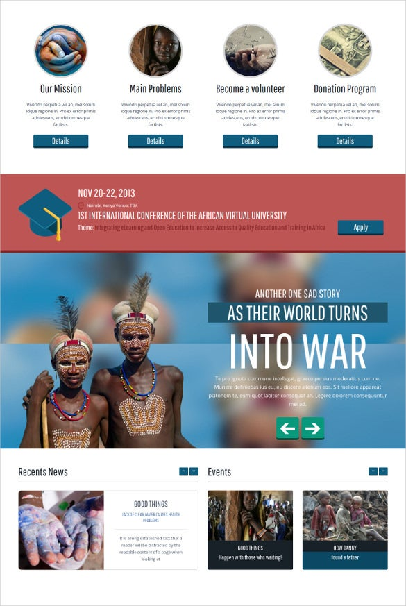 helping hand charity wordpress theme