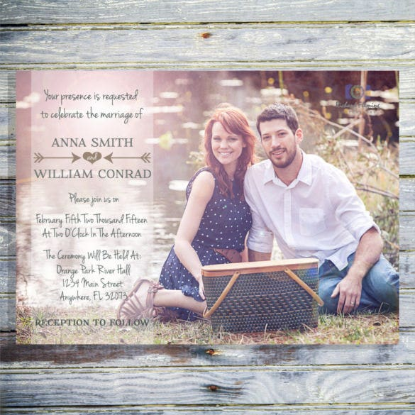 custom photo wedding invitation