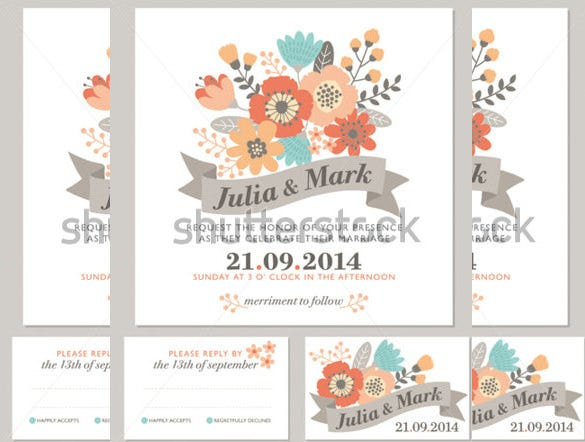 fall floral wedding invitation autumn colors 3
