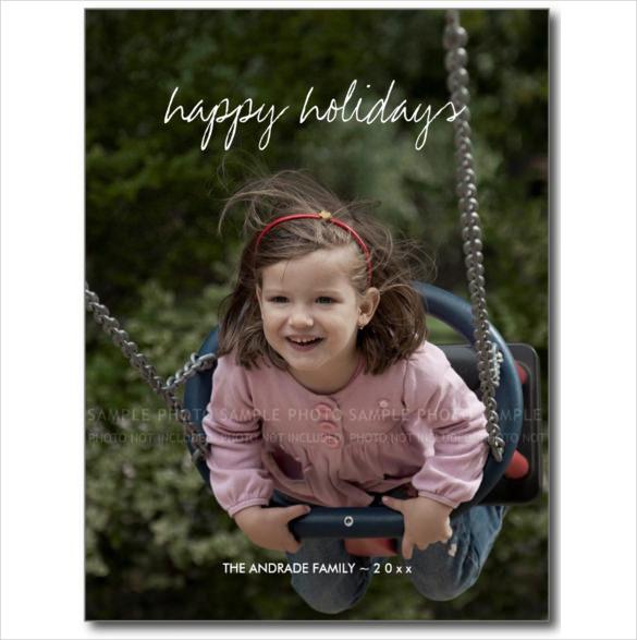 happy holidays christmas photo holiday custom kids postcard
