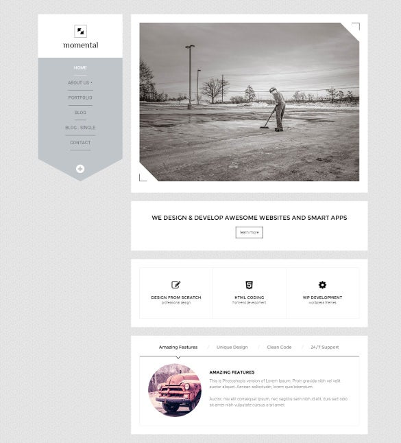 vertical navigation html5 template