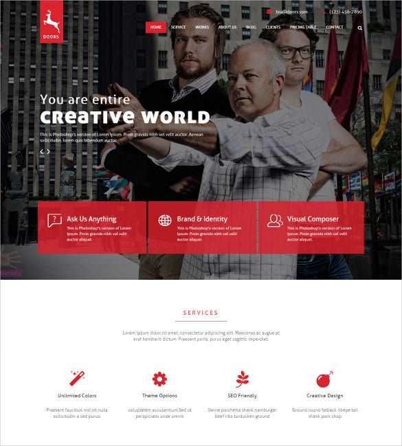 onepage corporate multipurpose bootstrap template