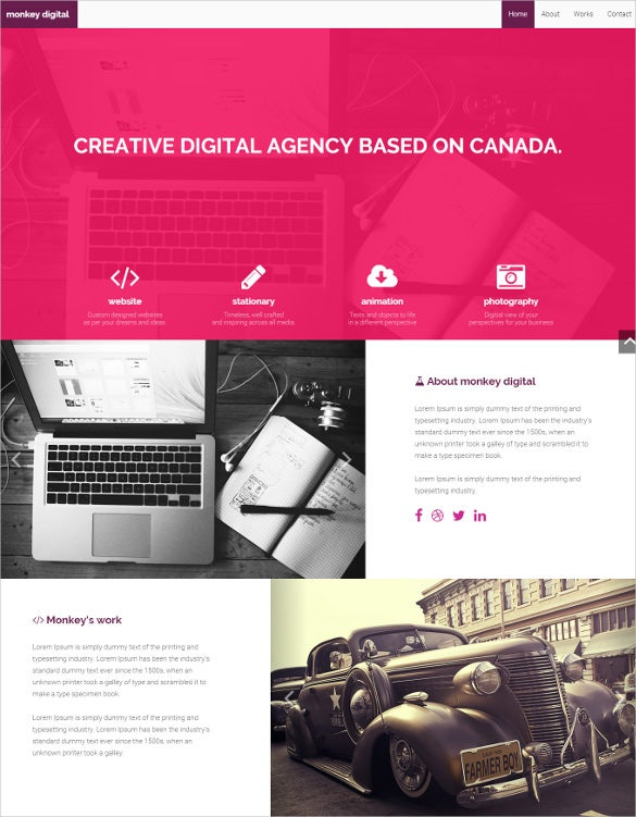 creative digital bootstrap theme