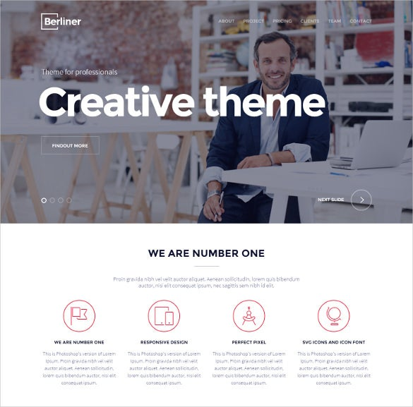 pretty creative wordpress bootstrap theme