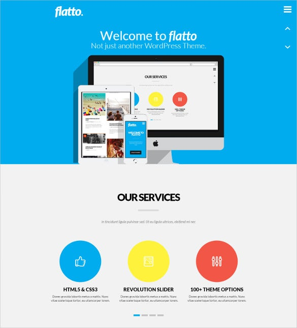 creative flat wordpress bootstrap theme