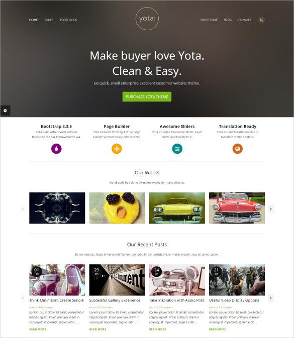 creative wordpress business portfolio bootstrap theme
