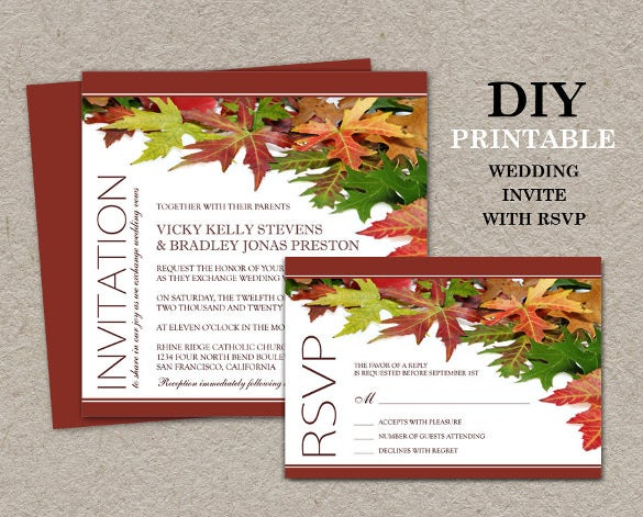 fall leaves wedding invites 5
