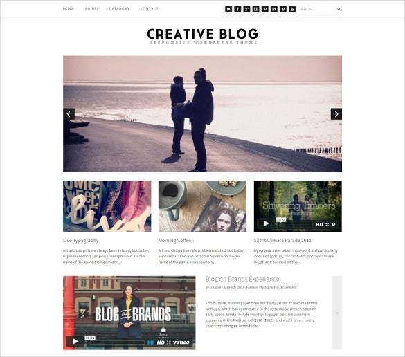 creative blog responsive bootstrap theme