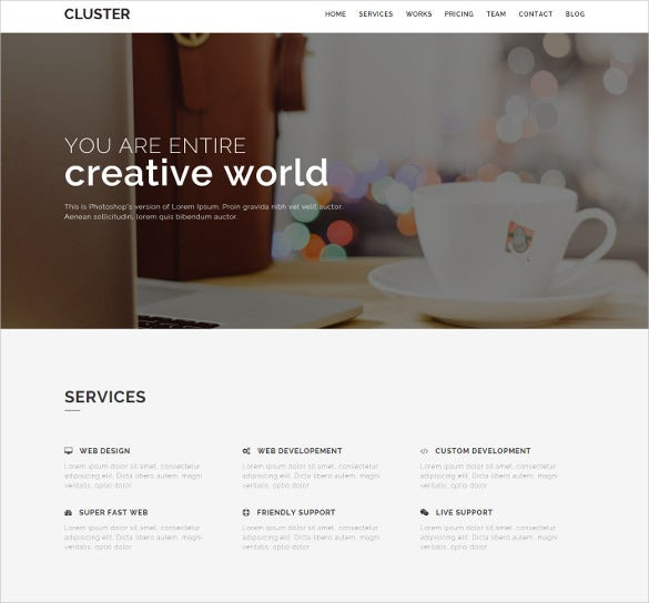 free simple creative bootstrap template