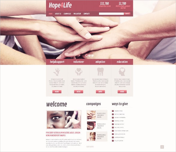 helpful charity drupal theme