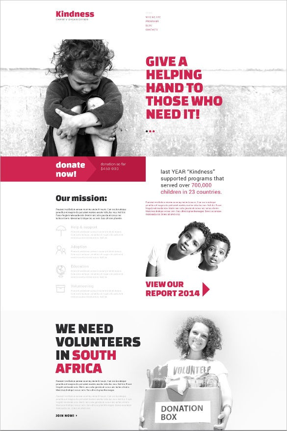 simple charity drupal template1