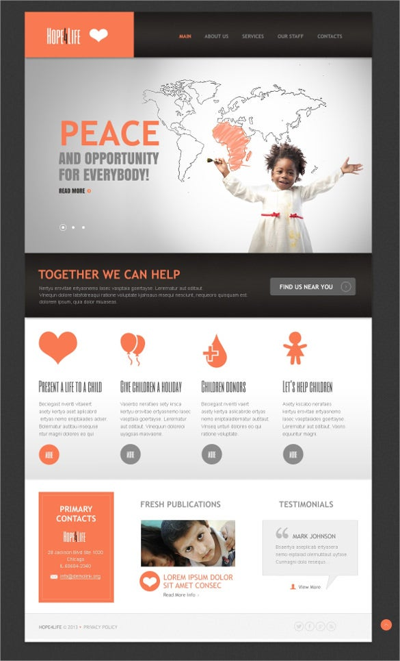 charity organization drupla template