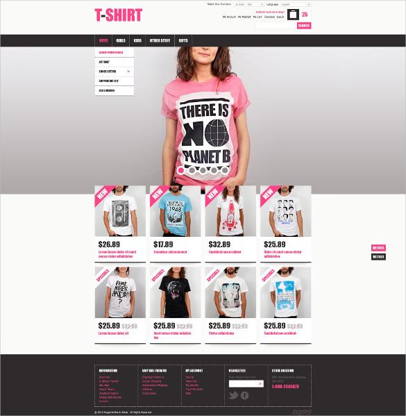 creative t shirts magento theme