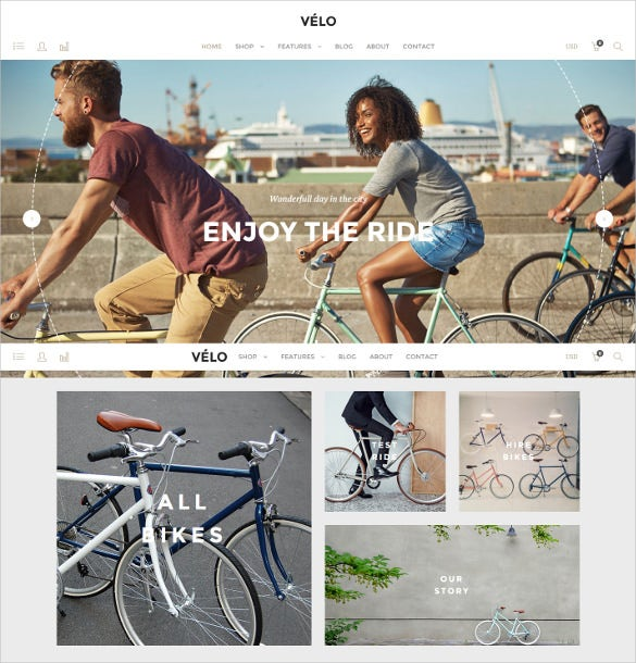 creative responsive magento theme for bike shop