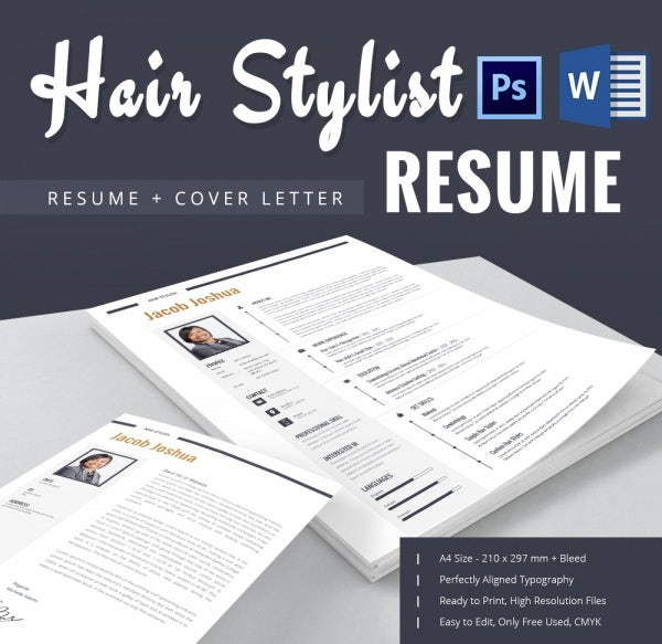 Hair Stylist Resume Template 9 Free Samples Examples Format – Hair Stylist CV Template