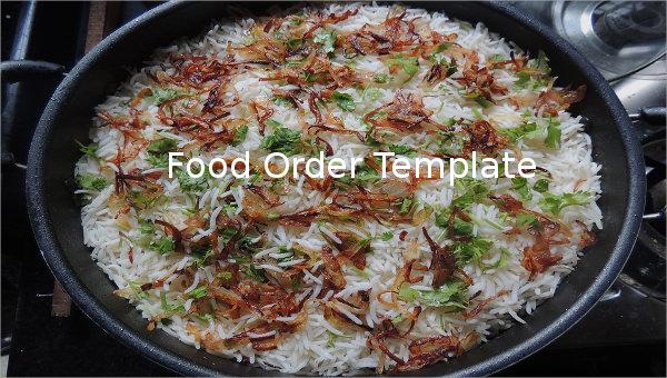 food order template