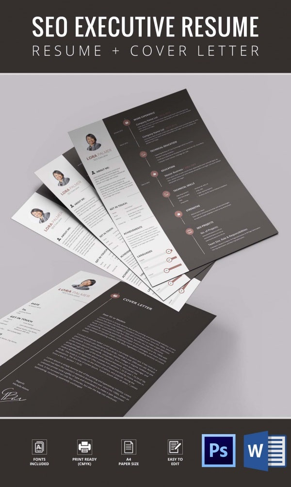 SEO Executive Resume Template