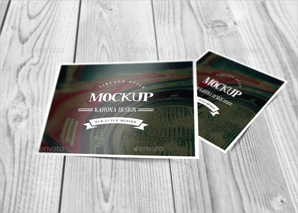 creative square postcard template