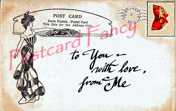 digital download valentine post card