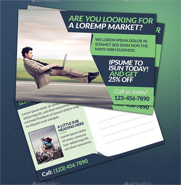 creative corporate marketing postcard
