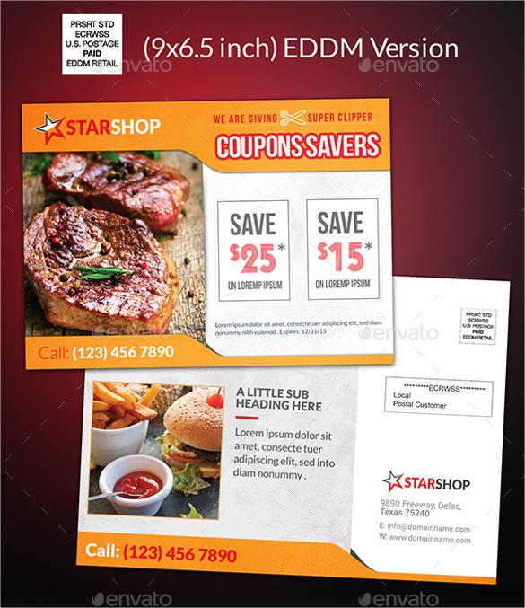 coupon code postcard template