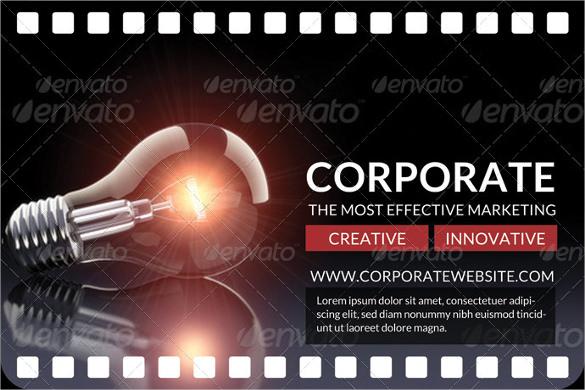 multipurpose movie clip postcard template