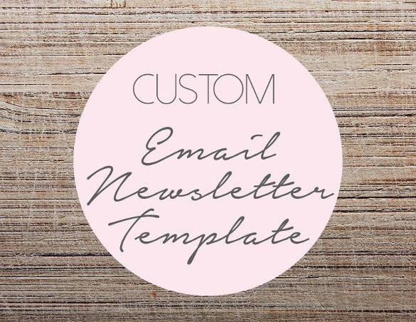 custom email newsletter template design