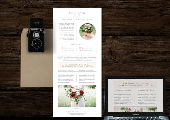 email newsletter template for photographers