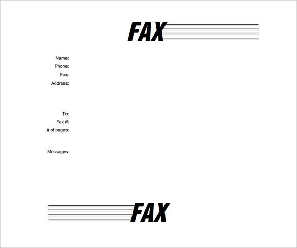 fax cover letter word document