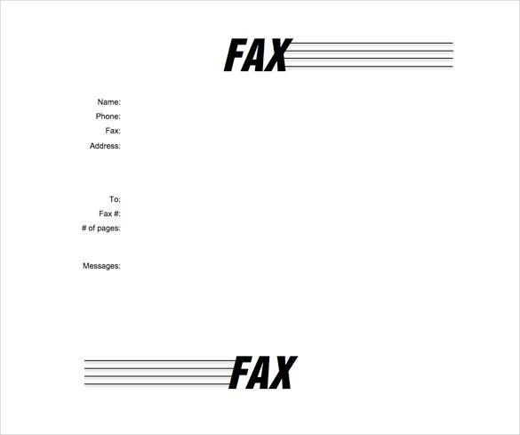 Microsoft Fax Templates Free Download