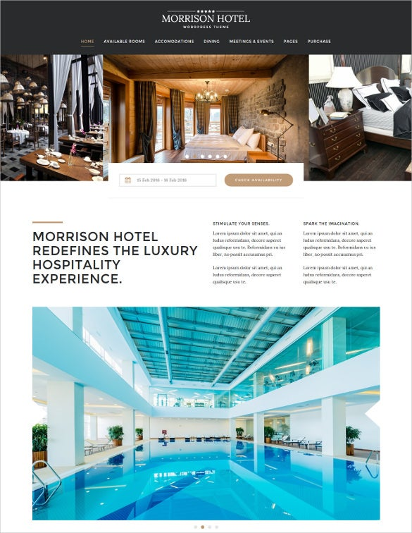 morrison hotel hotel booking wordpress theme