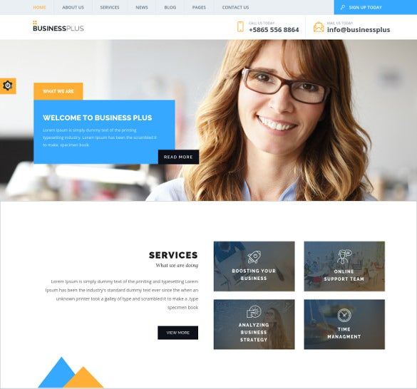 business plus corporate business wp theme
