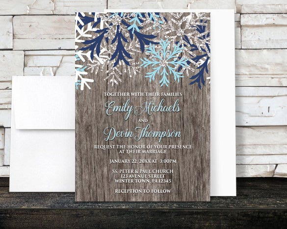 Emejing Rustic Winter Wedding Invitations Images Styles Ideas - Wedding invitation templates: winter wedding invitation templates free