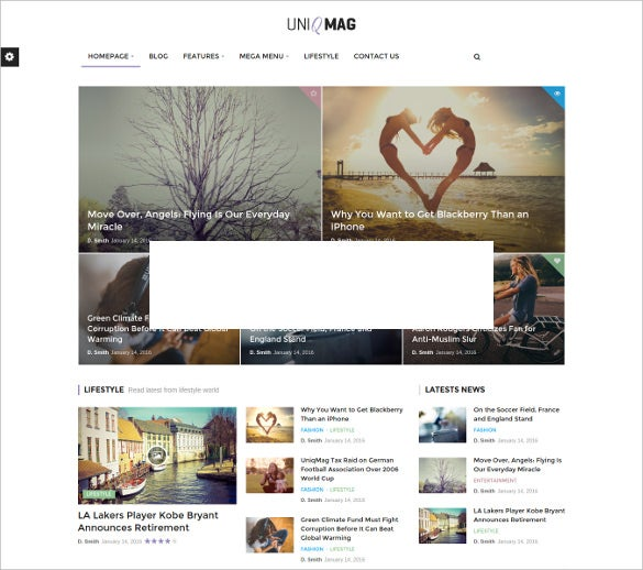 uniqmag ease of publishing news theme