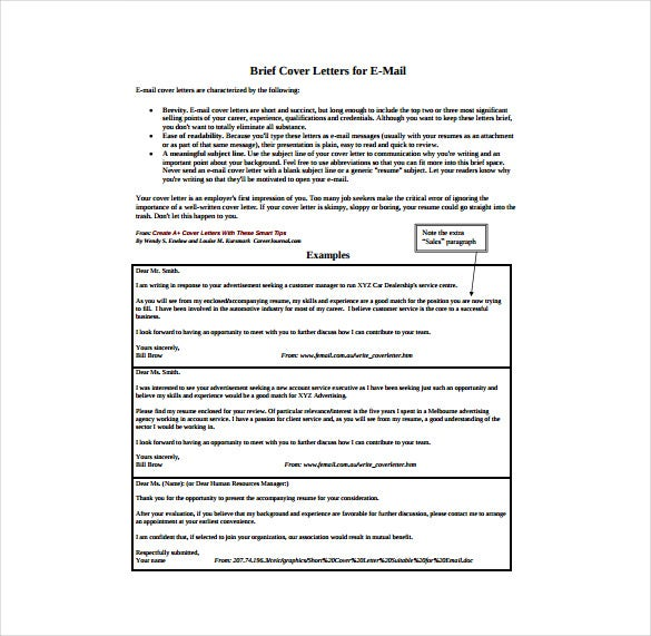 Email Cover Letters Easy Steps For Emailing A Resume And Cover